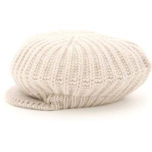 NWT MaxMara 100% Cashmere Flat Cap Beret Hat